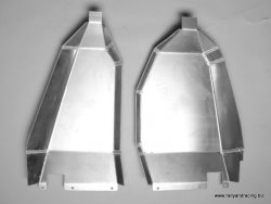 Fuel tank guard set. Mitsubishi Evo 10.