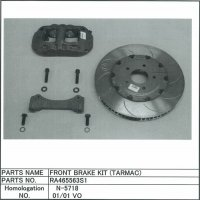 Front brake kit, tarmac
